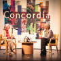 Jane Goodall being interviewed by Caroline Van Vlaardingen